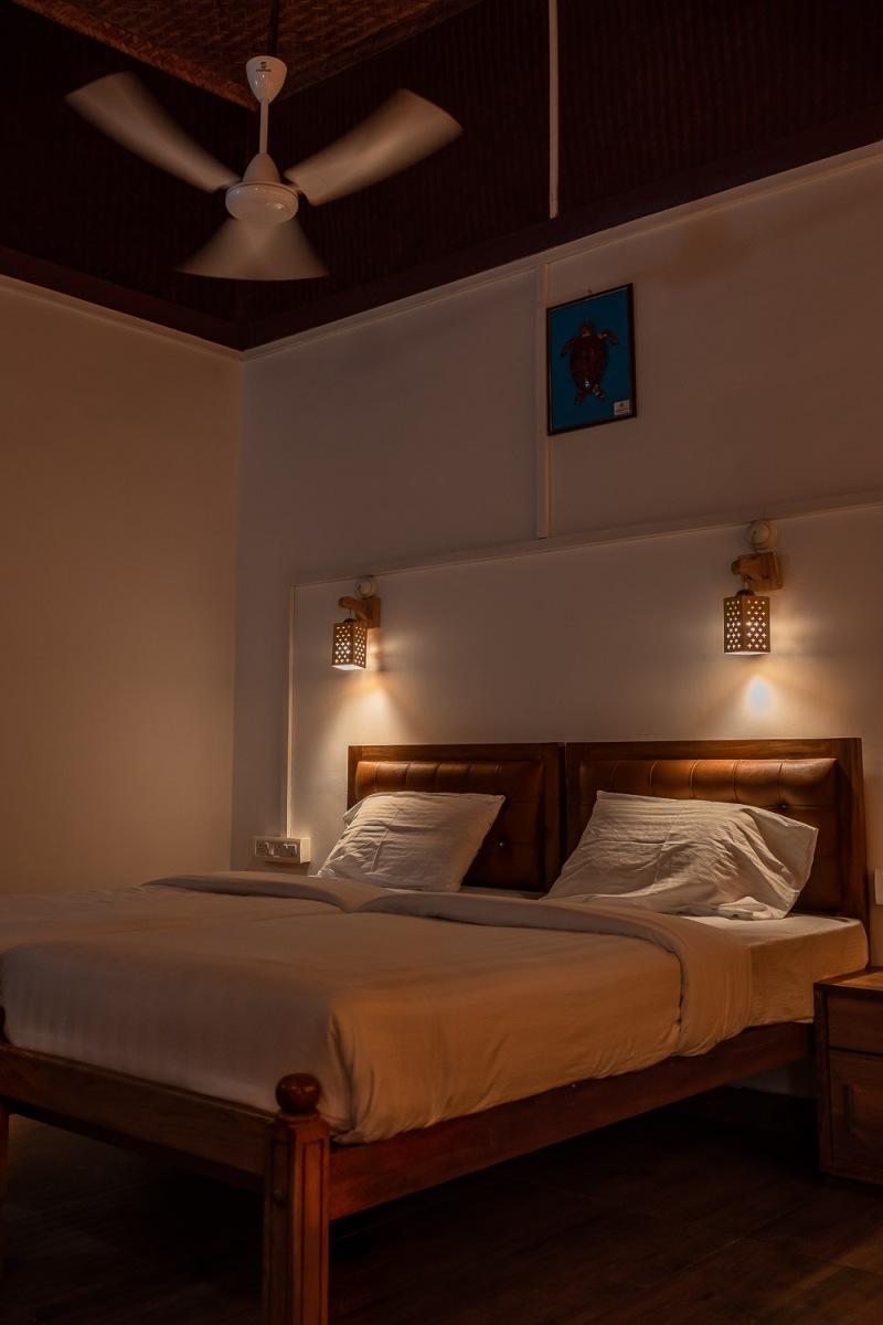 Bungalow at Bangaram Island Resort, Lakshadweep, India.
