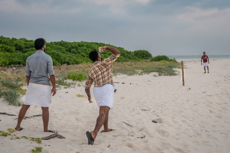 Game played by locals, Kadmat, Lakshadweep, India.