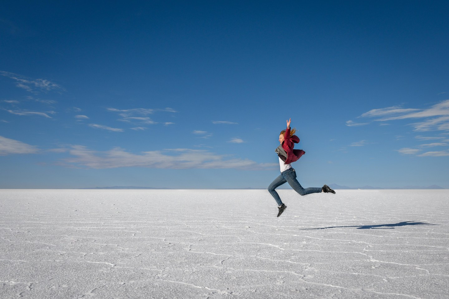 Flying high, Salar de Uyuni, Bolivia.