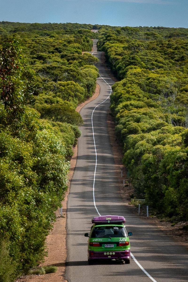 Winding road, Kangaroo Island, Australia.