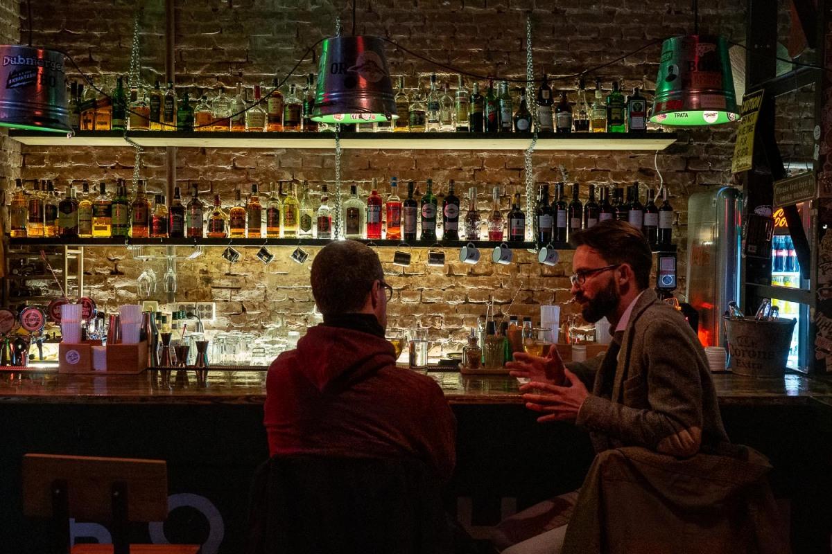 Cocktail bar, Minsk, Belarus.