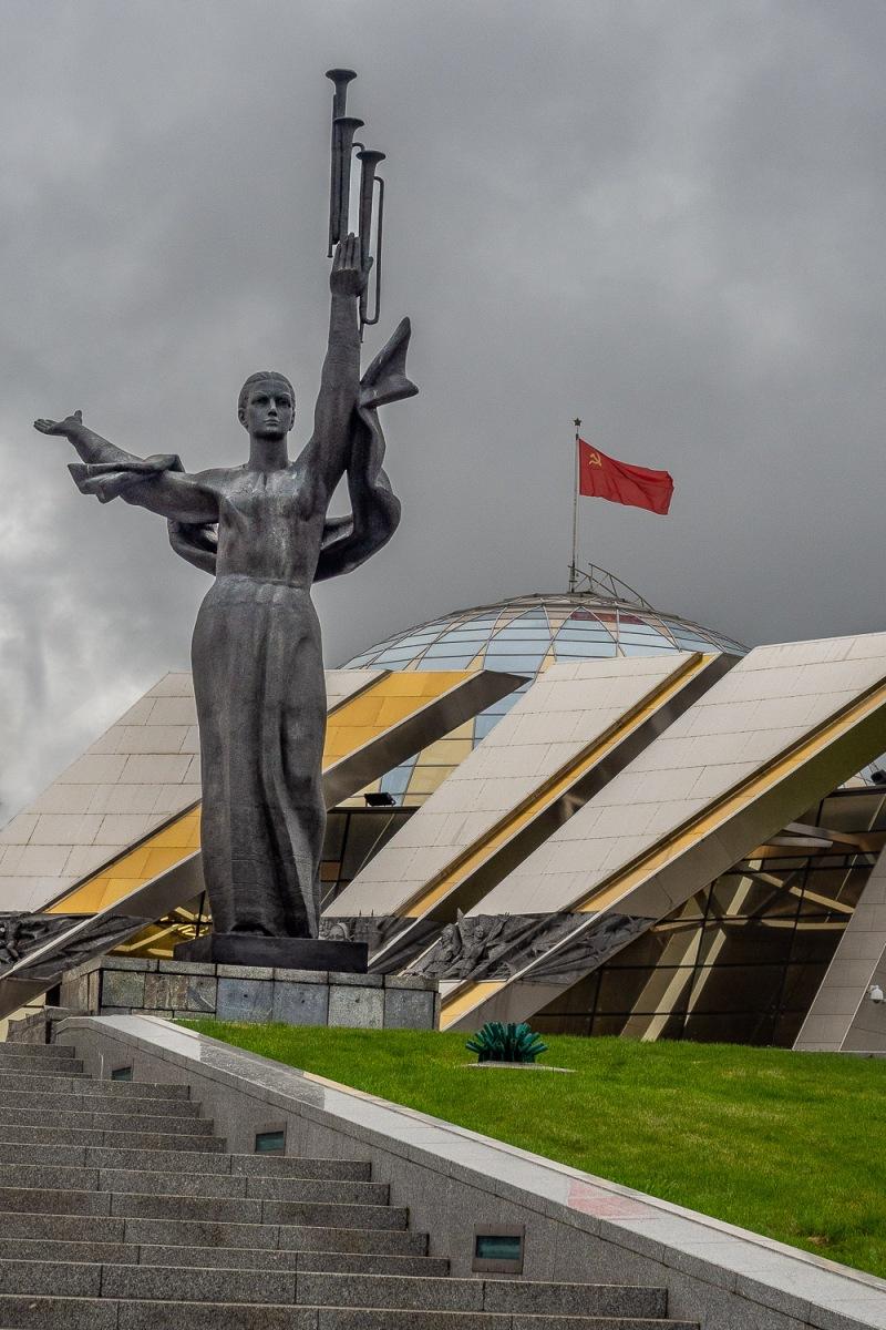 The Mother Motherland statue, Minsk, Belarus.