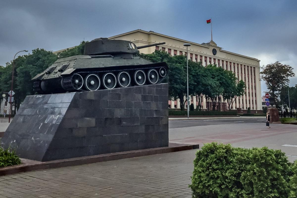 A Soviet T-34/85 tank, Minsk, Belarus.