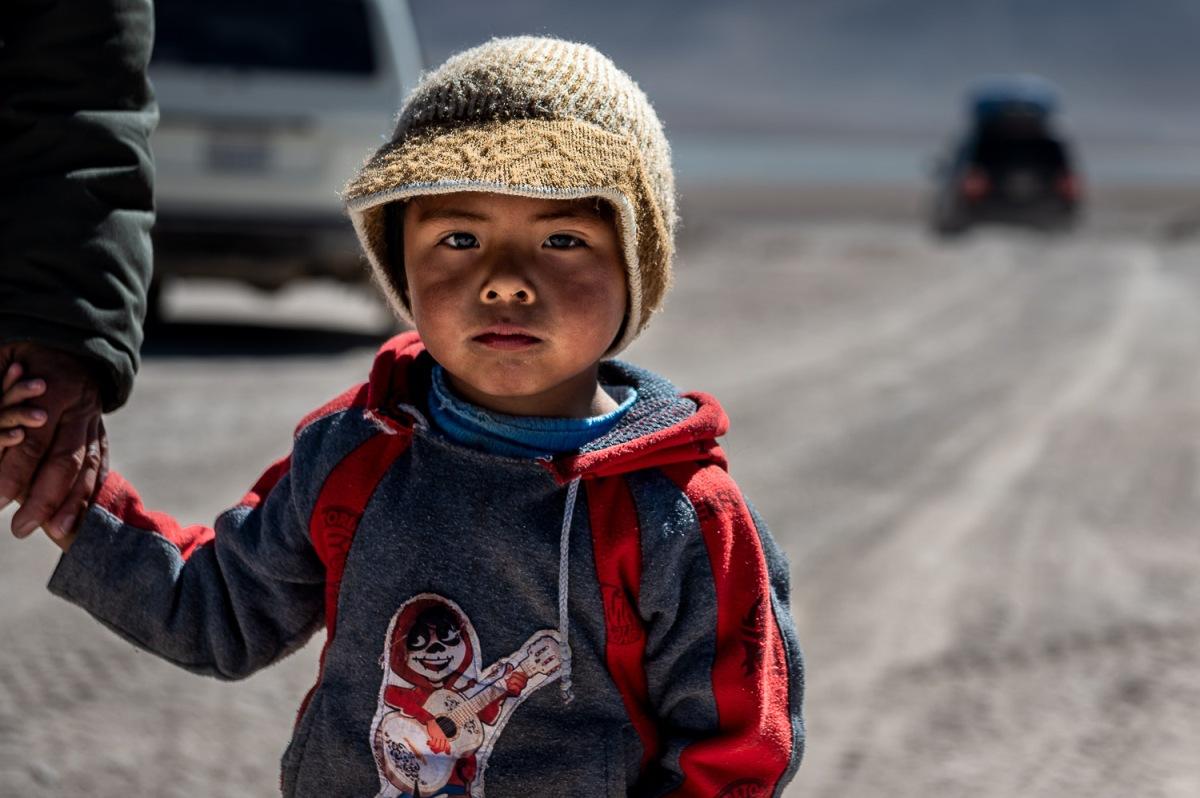 Boy at the small border crossing at Hito Cajón, Bolivia.