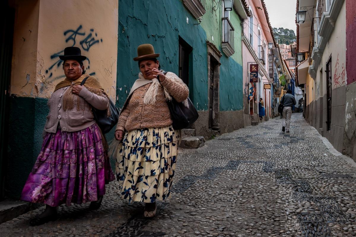 Women on Calle Jean, La Paz, Bolivia.