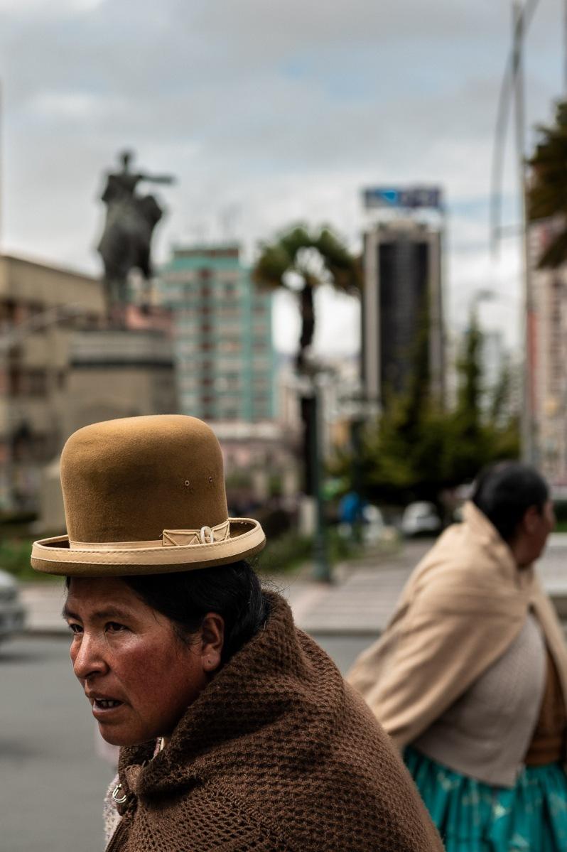 People crossing, La Paz, Bolivia.