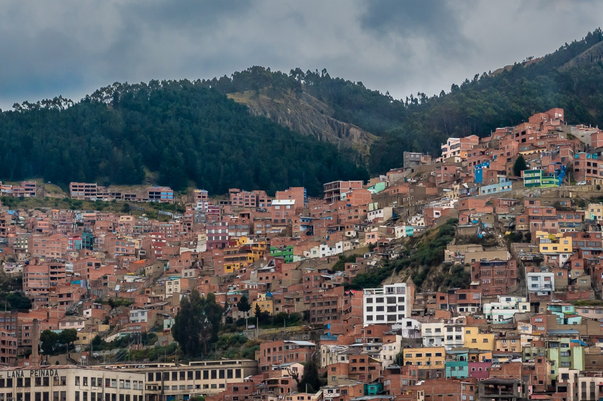 Houses on the slope of the valley, La Paz, Bolivia.