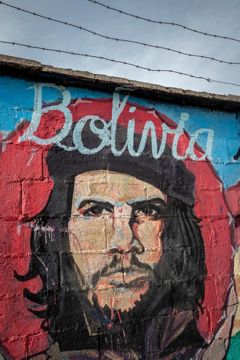 Che Guevara wall painting, La Paz, Bolivia.