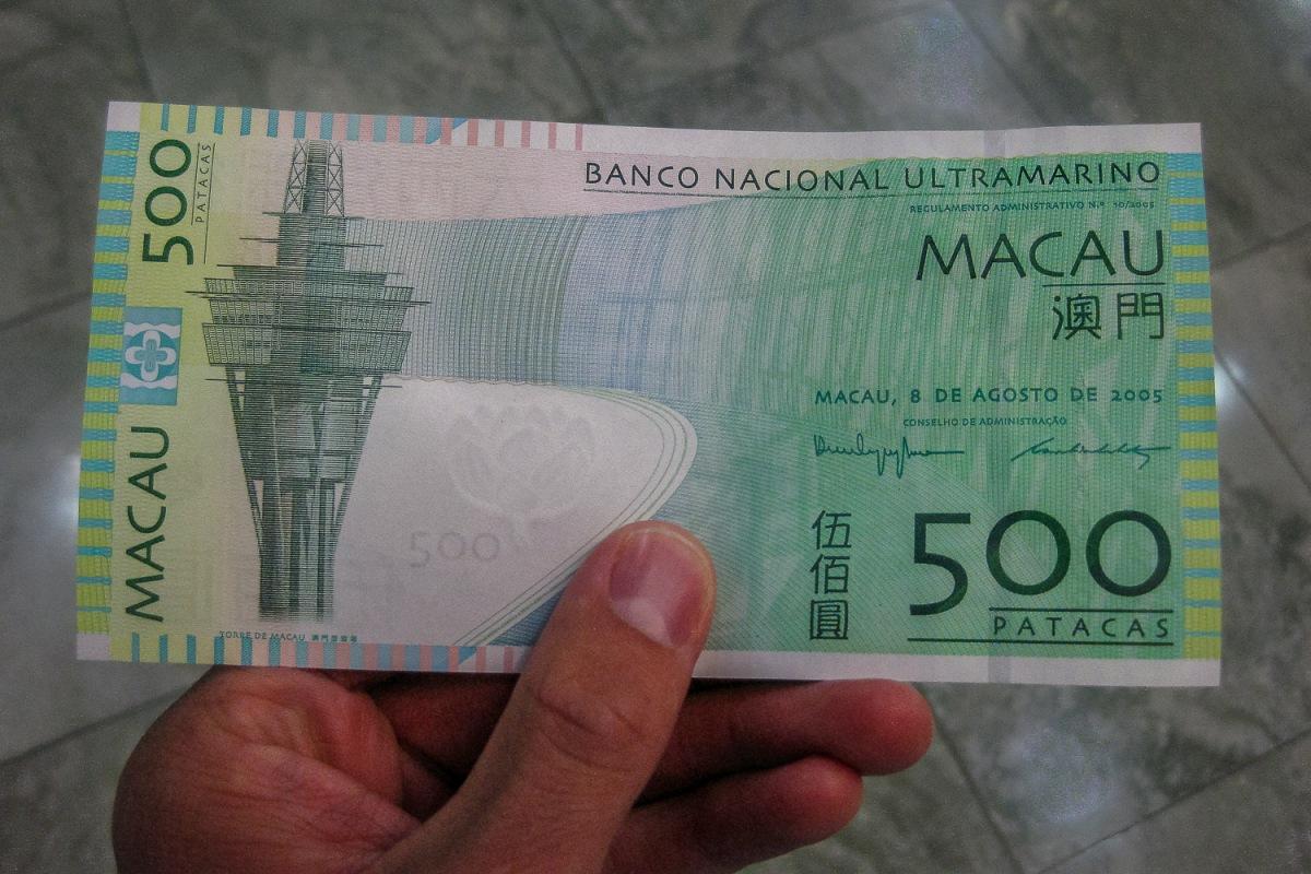 Macau has their own currency called Patacas.