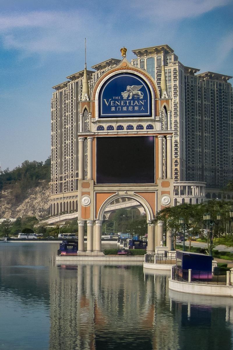 Venetian Casino at Taipa Island, Macau, China.