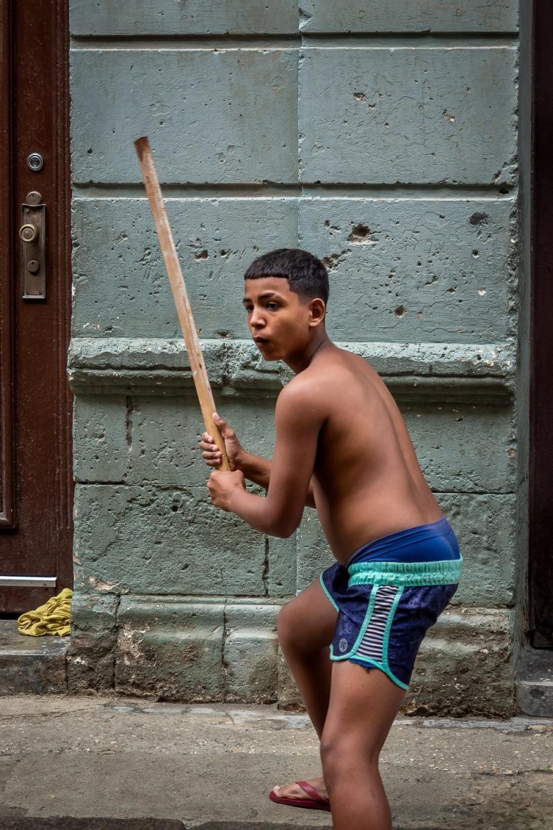 Boy playing, Havana, Cuba.