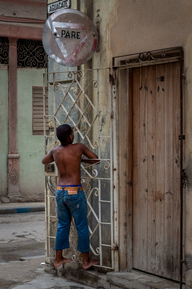 Boy playing, Havana, Cuba.