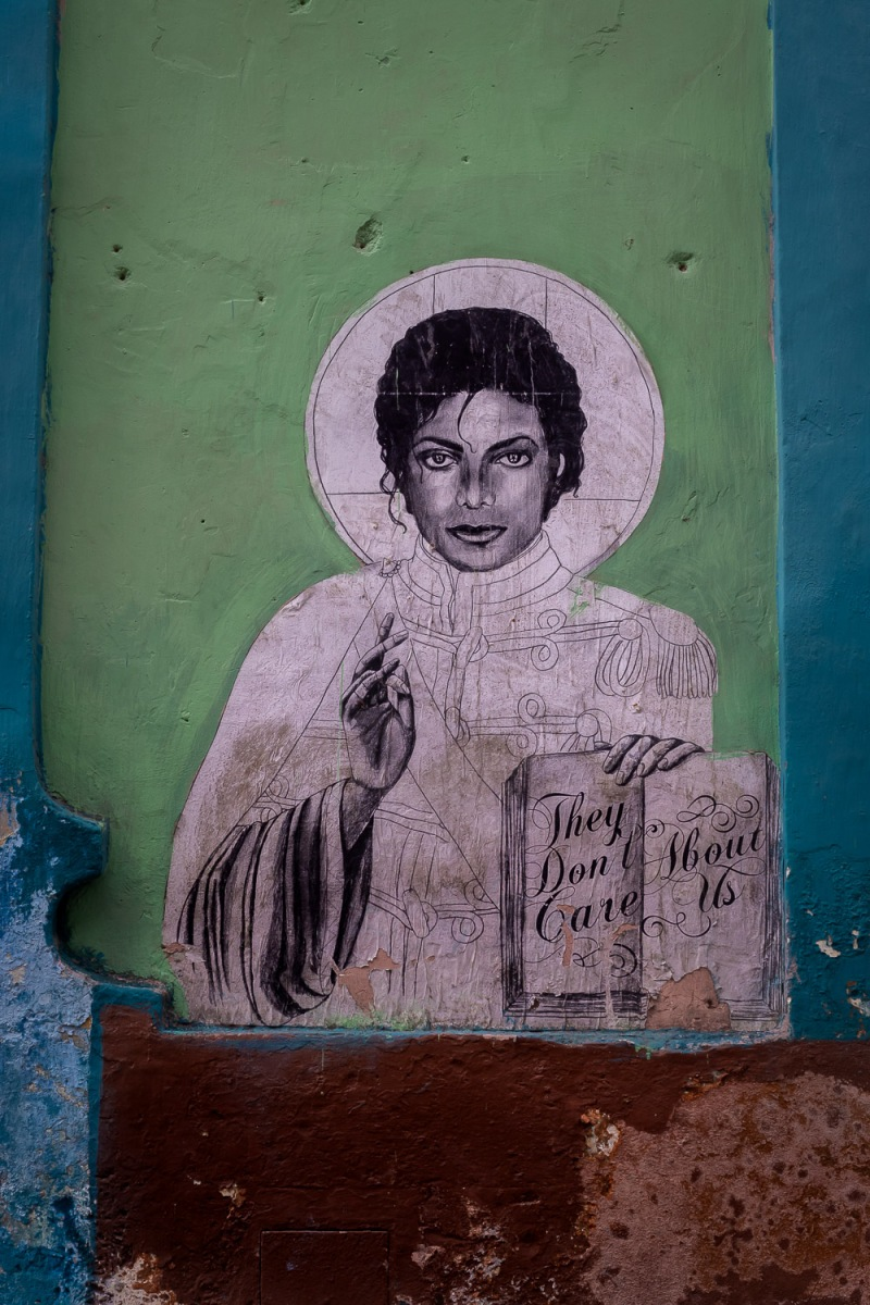 Street art, Michael Jackson, Havana, Cuba.