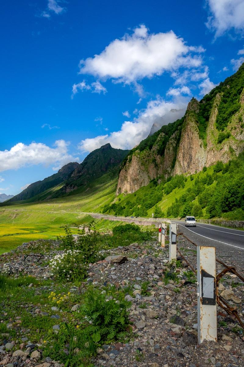 Georgian Military Road, Kazbegi, Georgia.