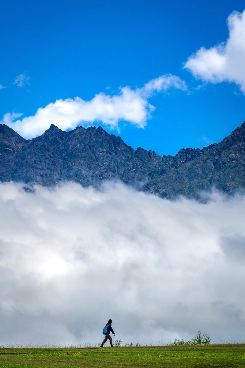 Walking on clouds, Kazbegi, Georgia.