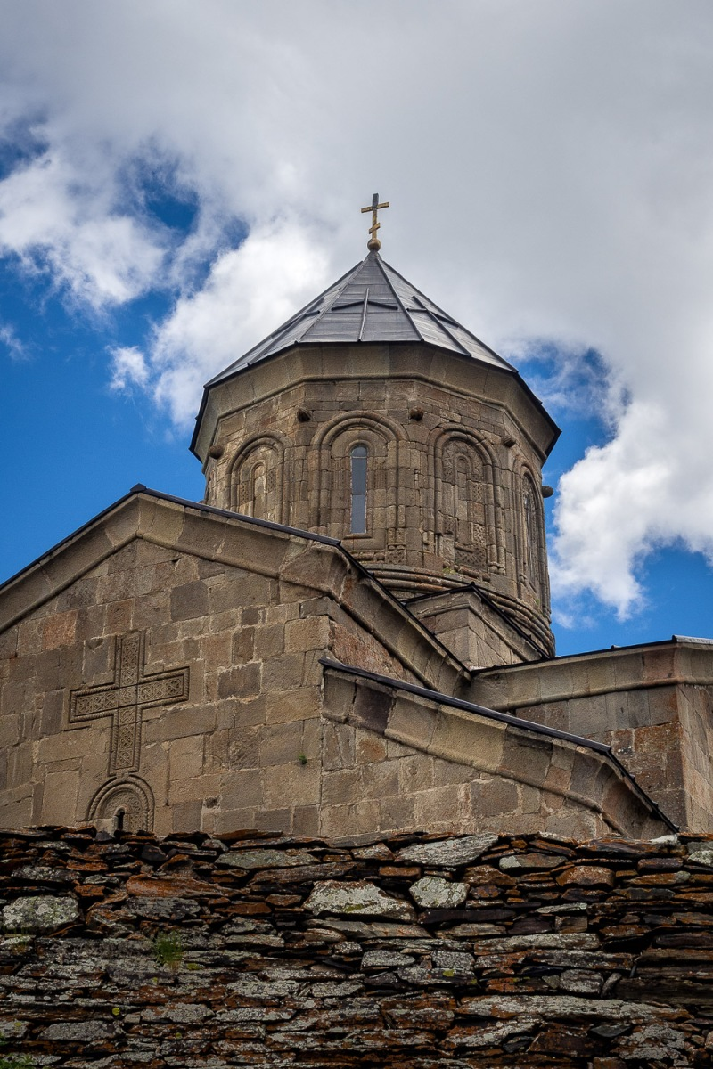 Gergeti Trinity Church, Kazbegi, Georgia.