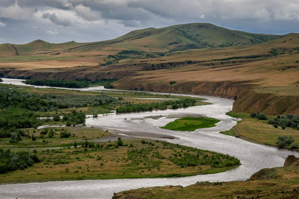 Mtkvari River, Uplistsikhe, Georgia.