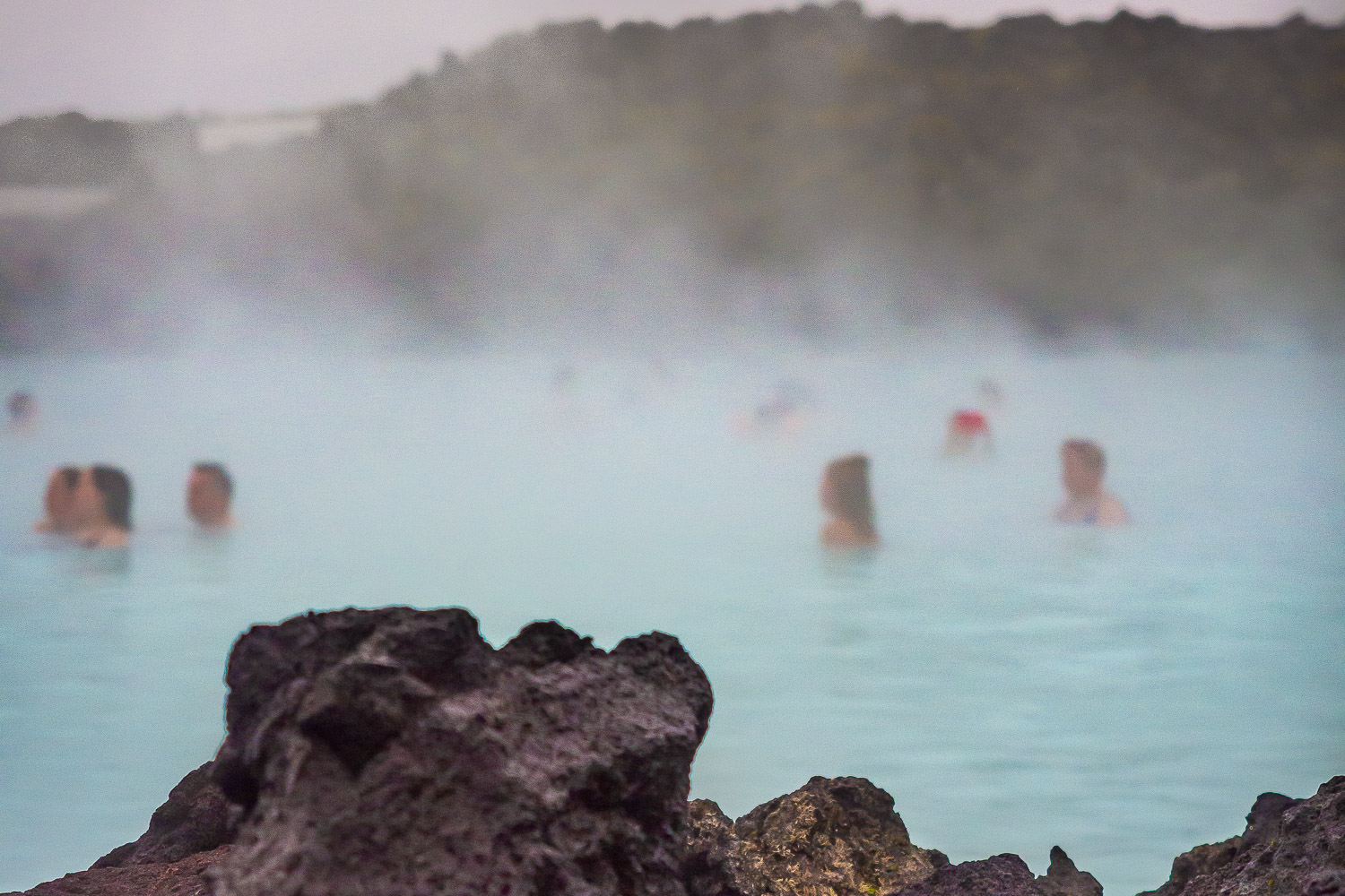 Hot spring bath at the Blue Lagoon, Reykjavik, Iceland.