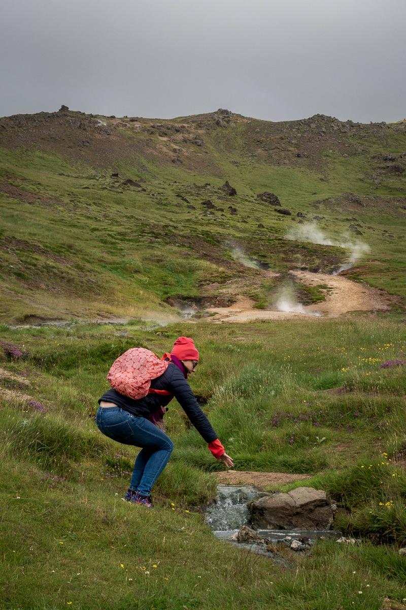 Hot springs, Hveragerdi, Iceland.