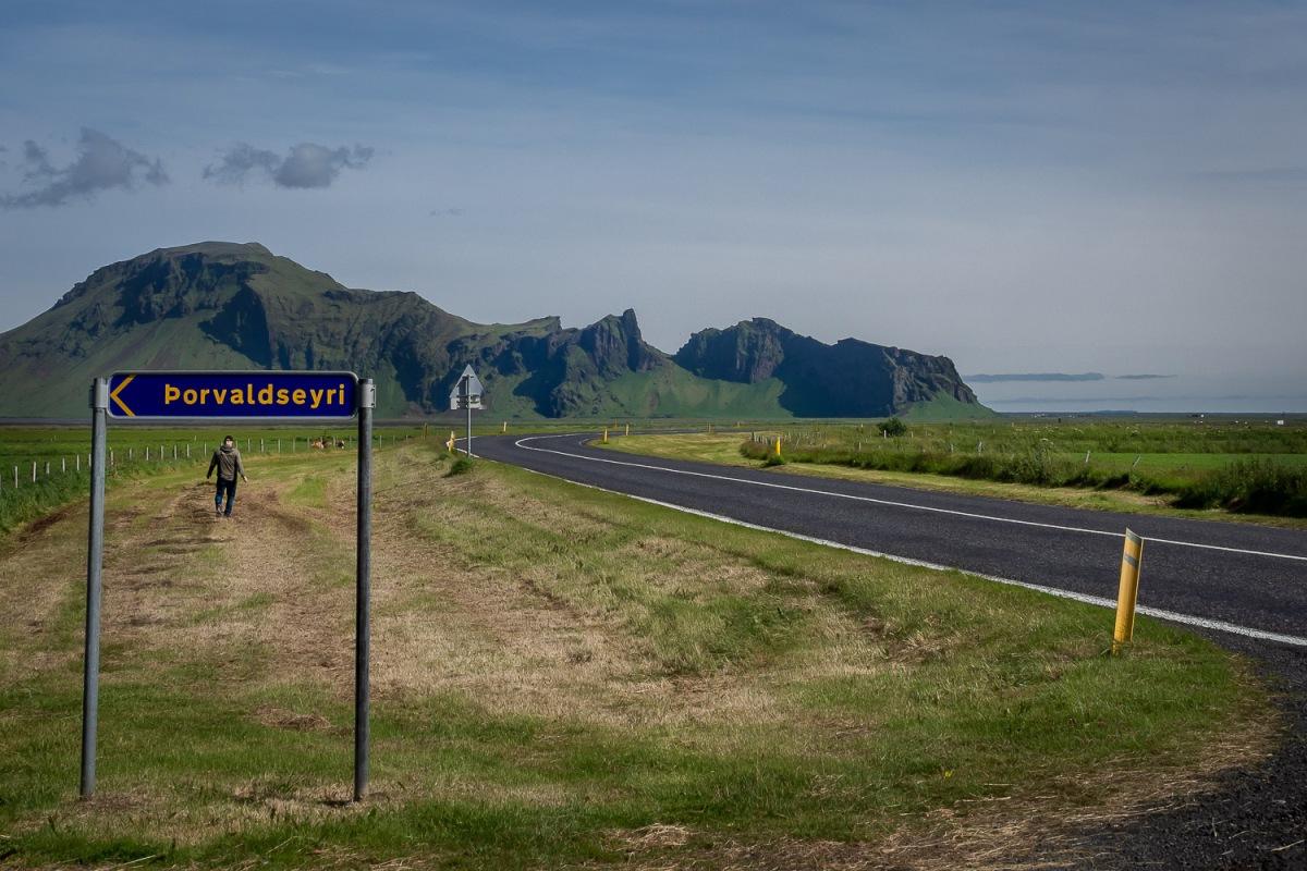 Circle road, Porvaldseyri, Iceland.