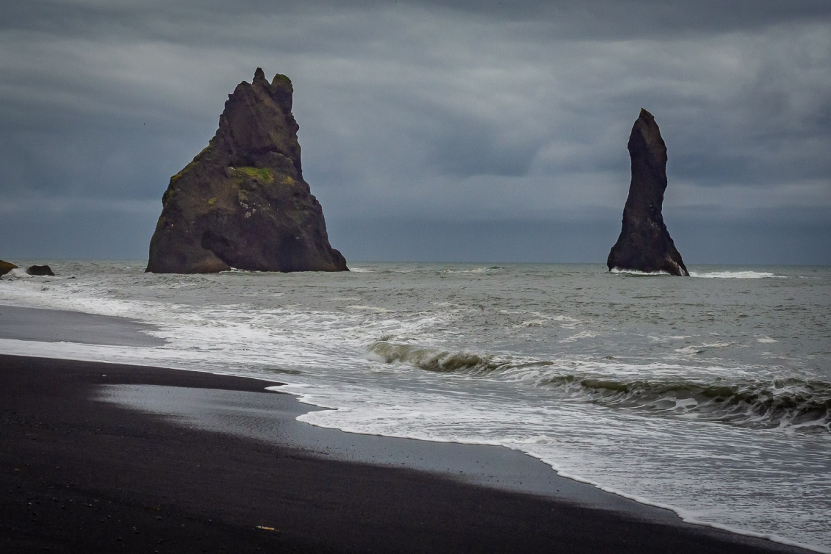 Black Beach at Reynisfjara, Iceland.