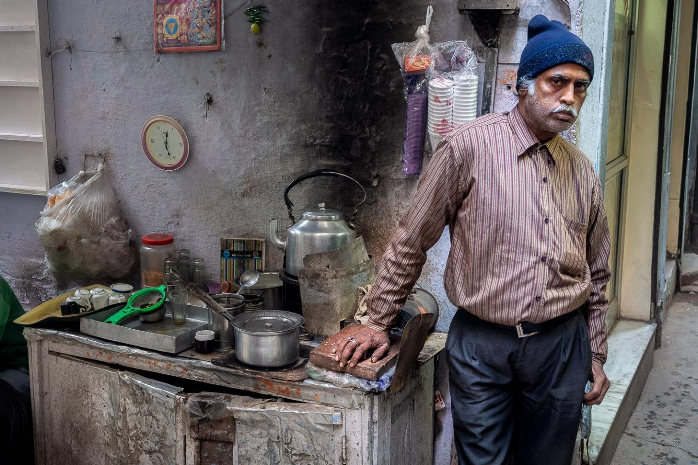 Street kitchen, Old Delhi, India.