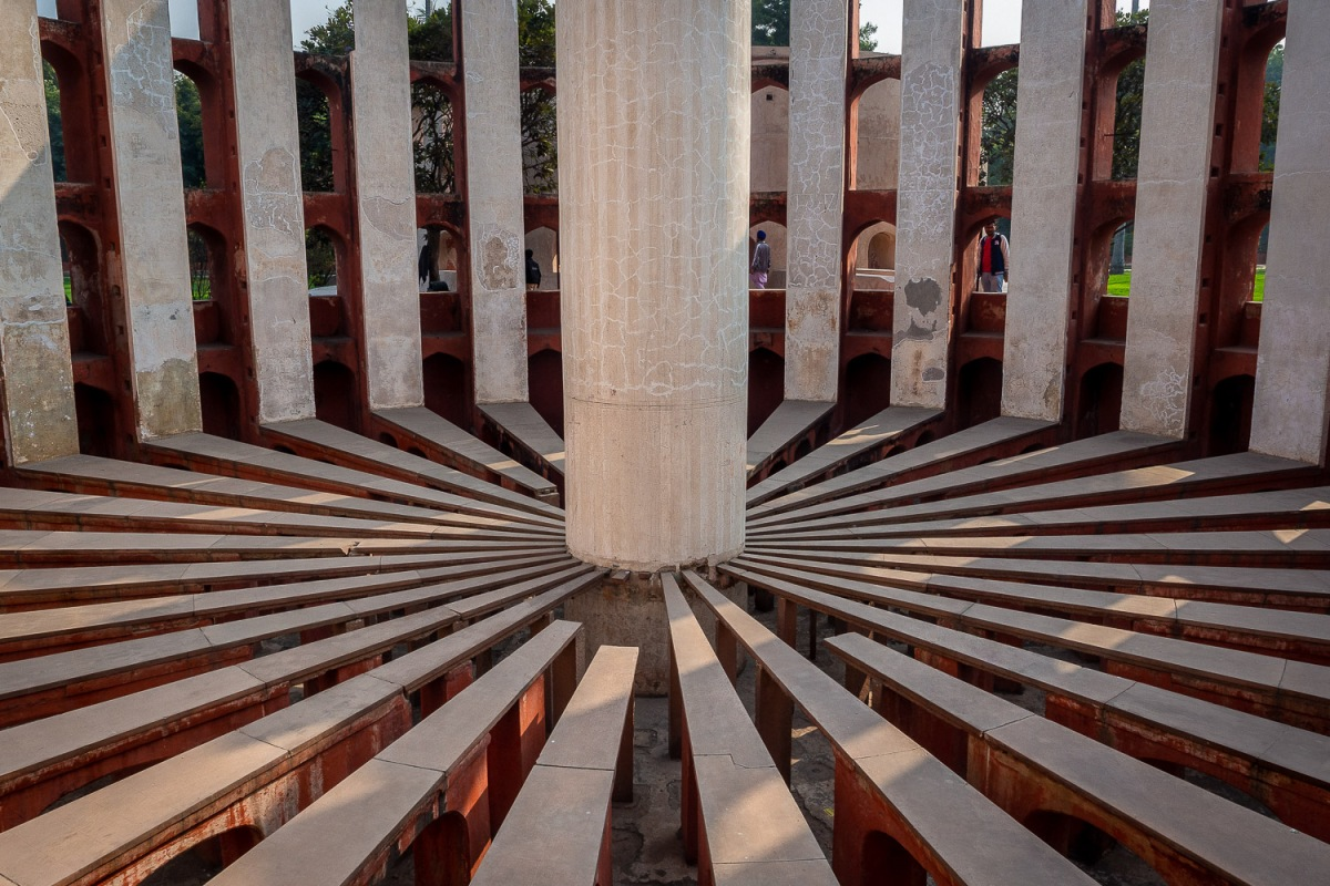 The sundial of Jantar Mantar, Delhi, India.