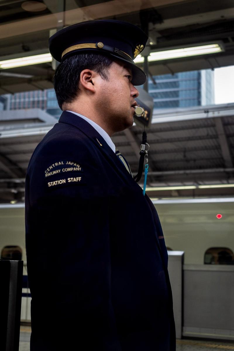 Station manager, Tokyo, Japan.