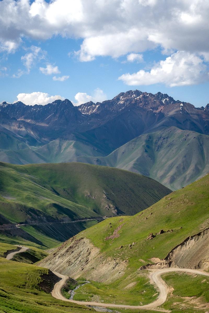 Winding roads, Tian Shan, Kyrgyzstan.