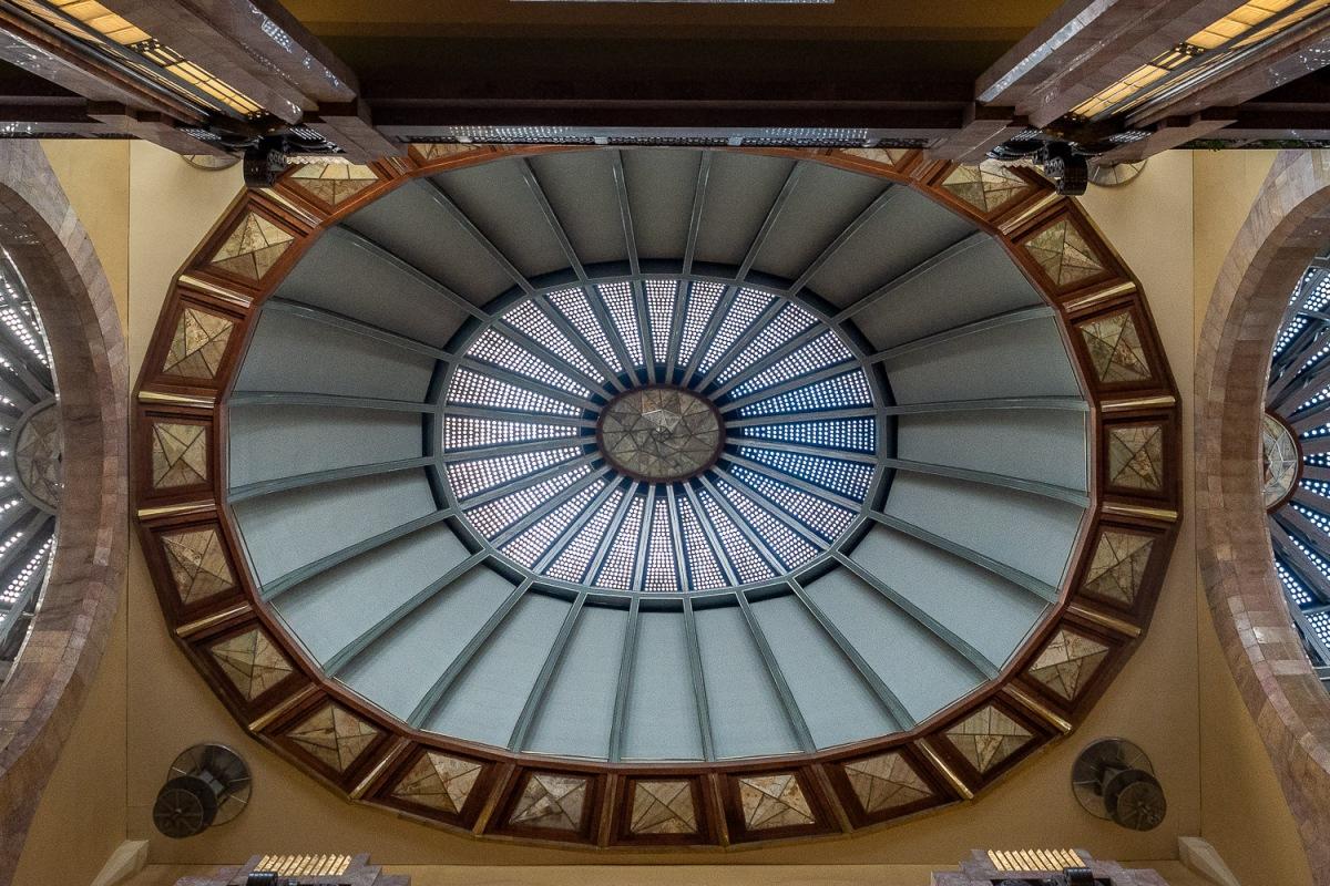 Art deco interior at Palacio de Bellas Artes, Centro Histórico, Mexico City.