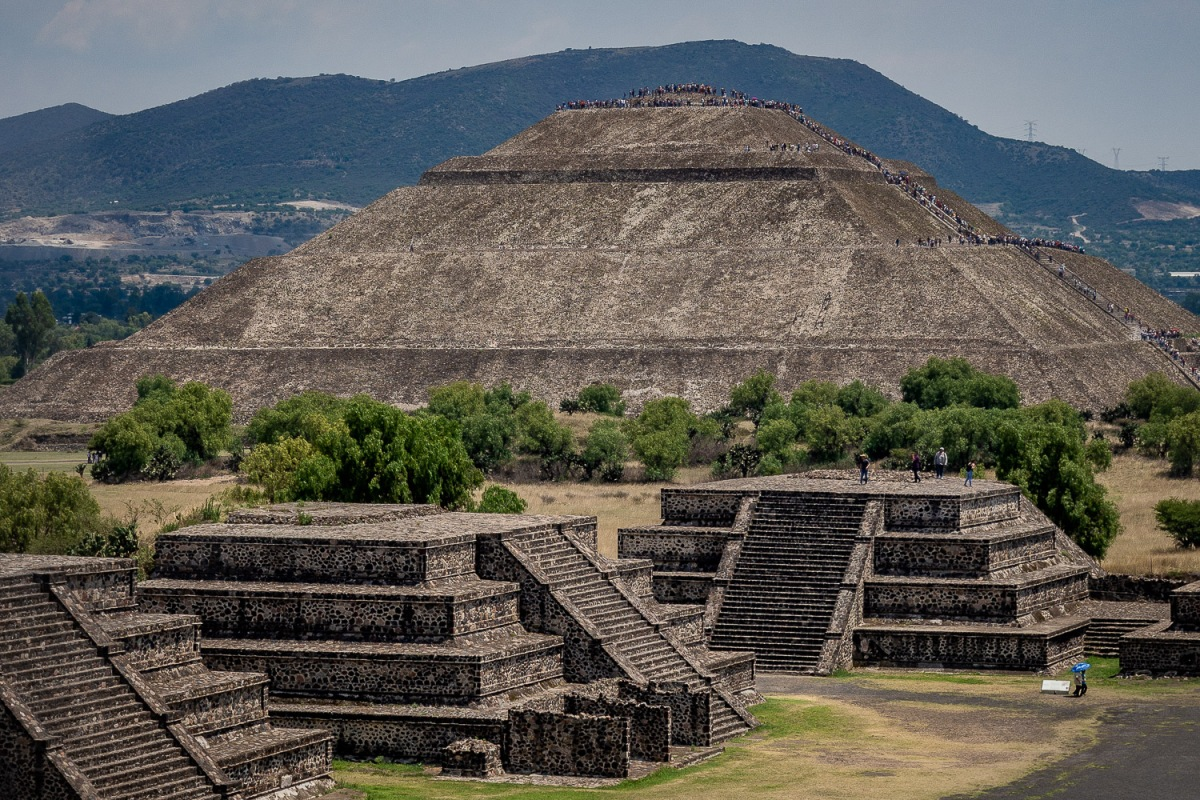 Pyramid of the Sun, Teotihuacan, Mexico.