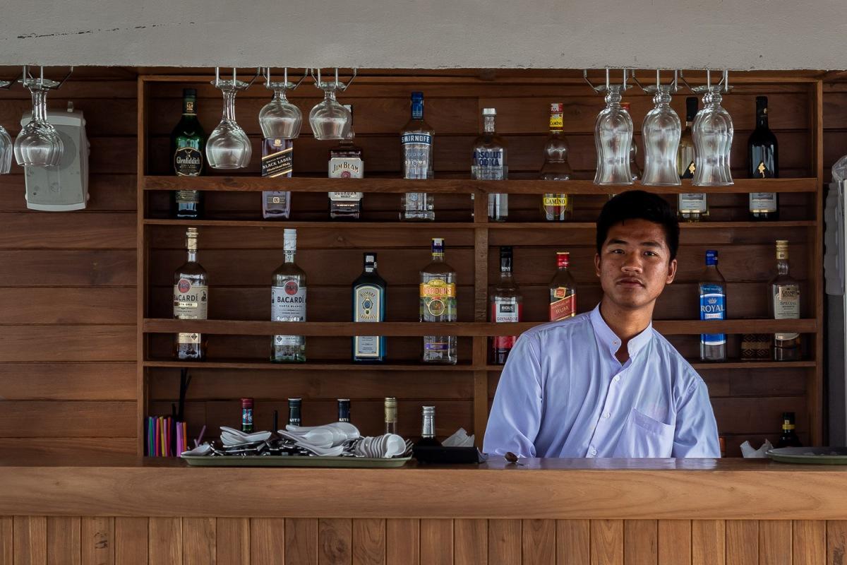 Bartender, Irrawaddy River, Myanmar.