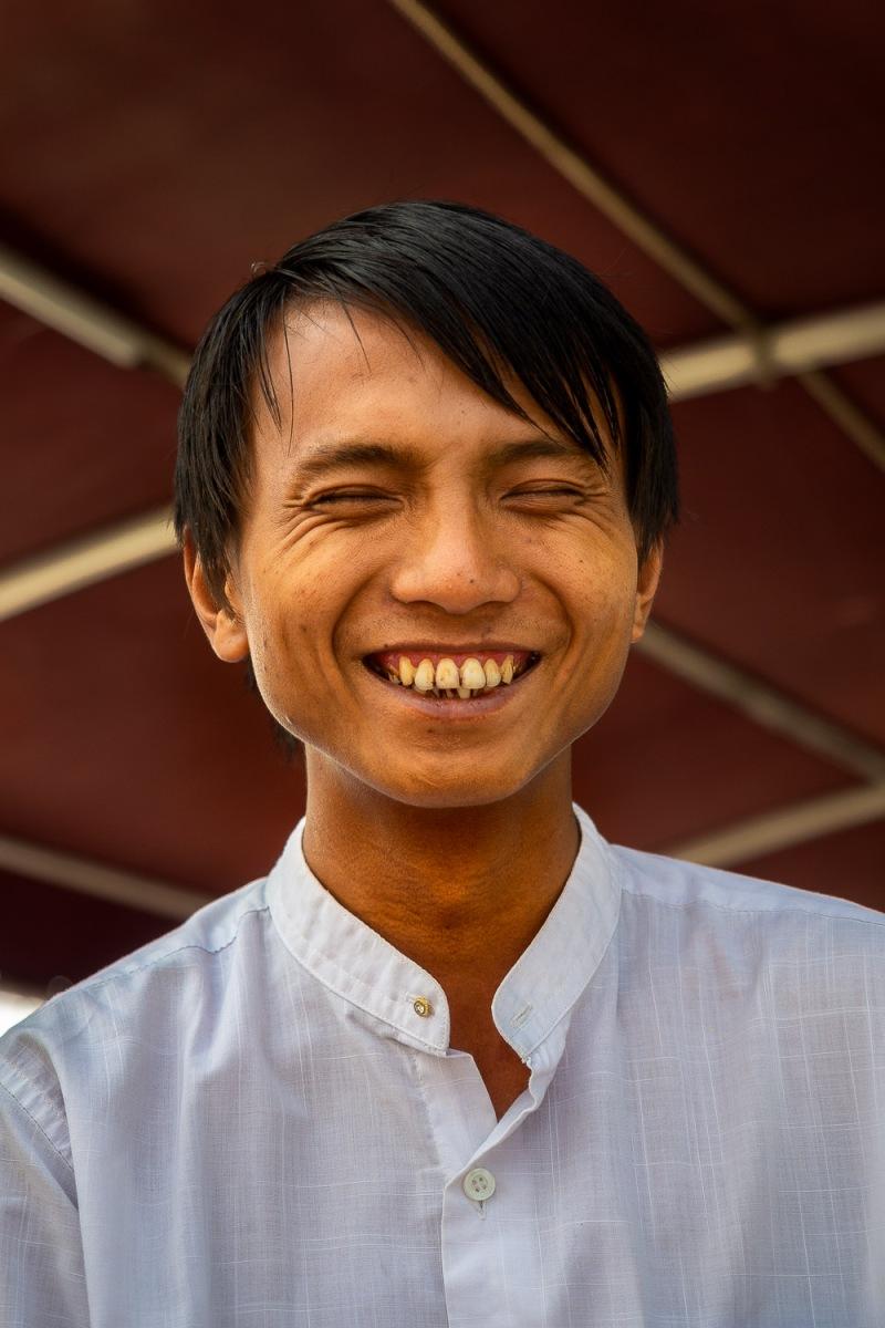 Crew member, Irrawaddy River, Myanmar.