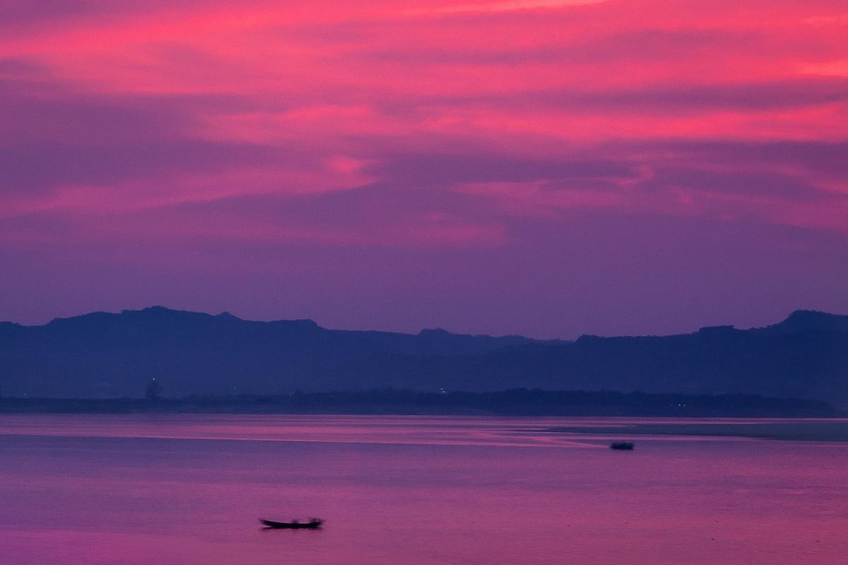 Irrawaddy River, Bagan, Myanmar.