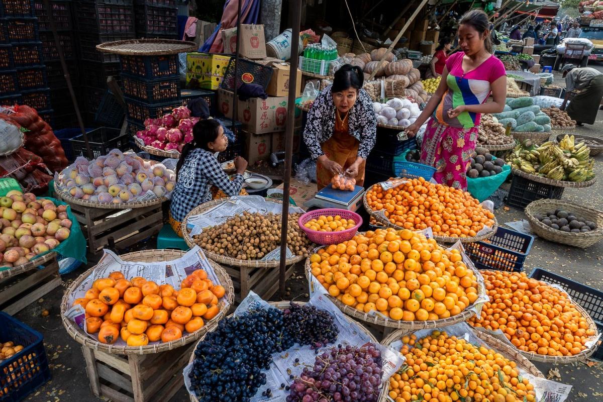 Zegyo Market, Mandalay, Myanmar.