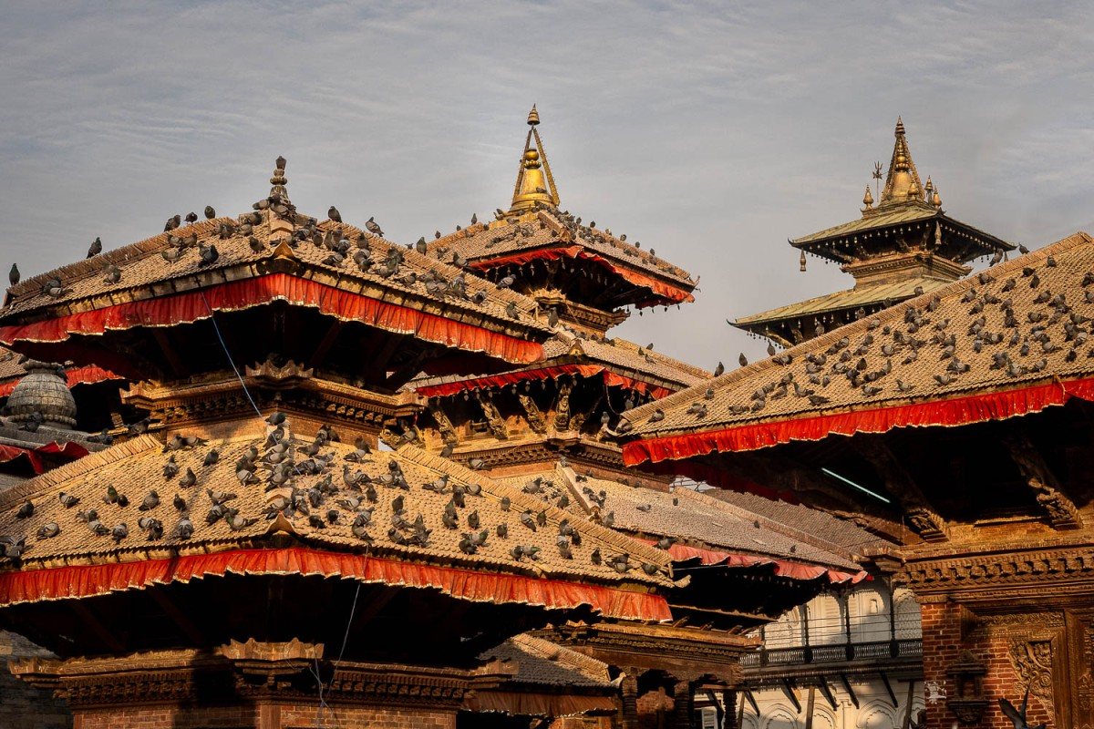 Rooftops at Durbar Square, Kathmandu, Nepal.