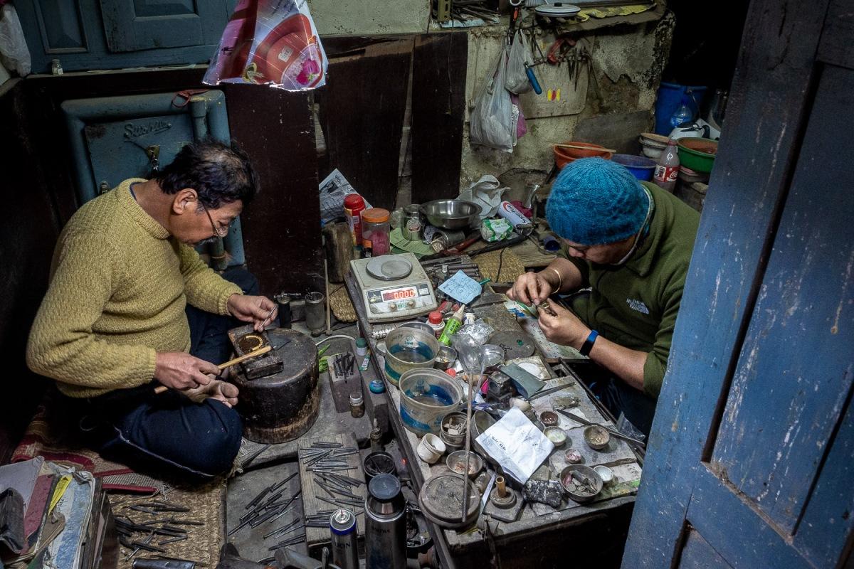 Artisans at work, Kathmandu, Nepal.