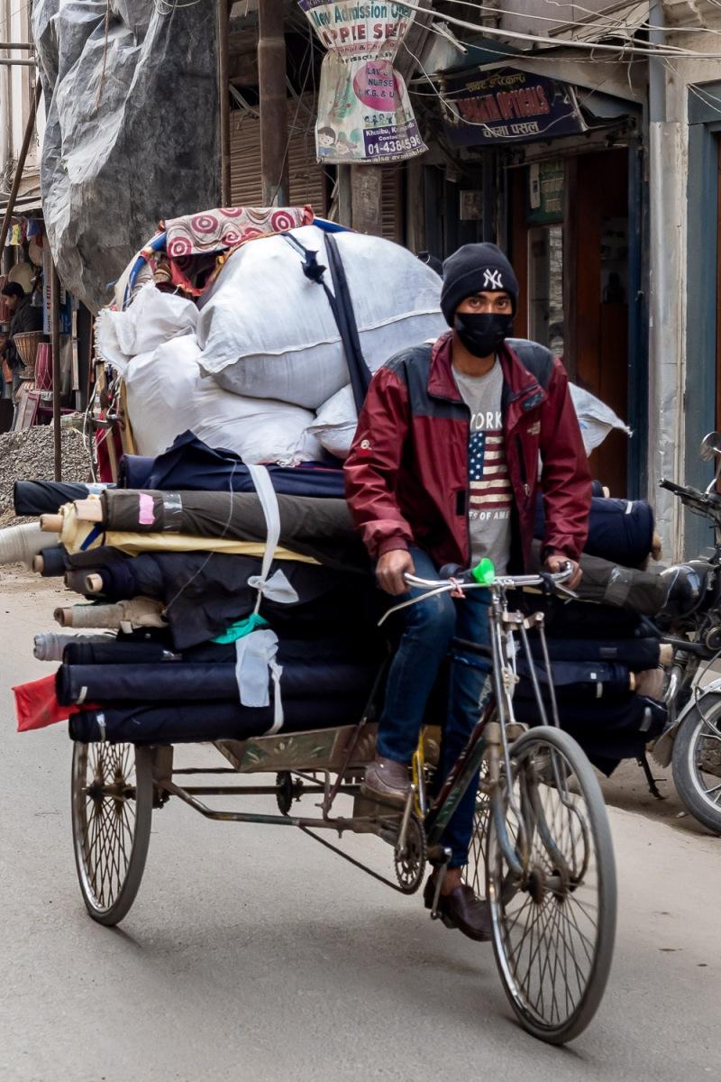 Rickshaw, Kathamndu, Nepal.