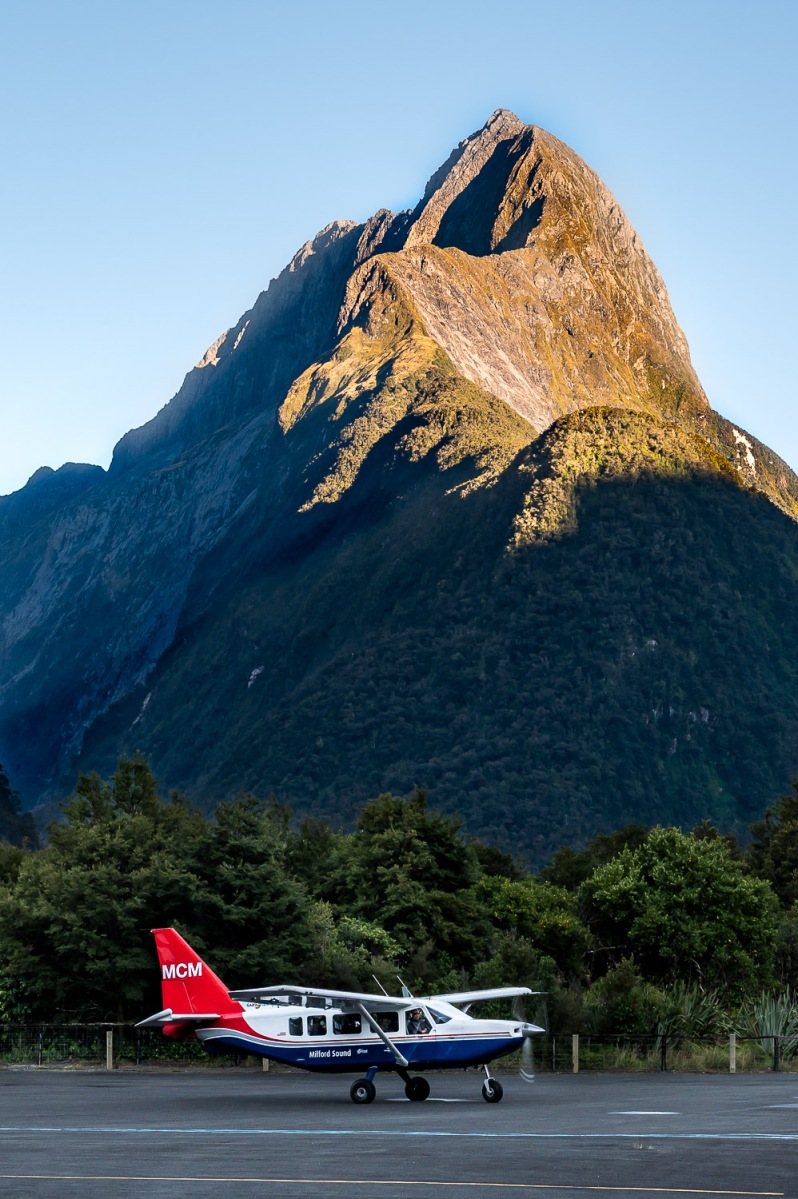 Milford Sound Airfield, New Zealand.