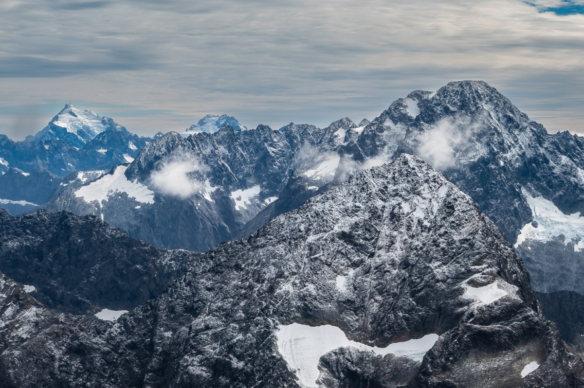 Western Alps, Fiordland, New Zealand.