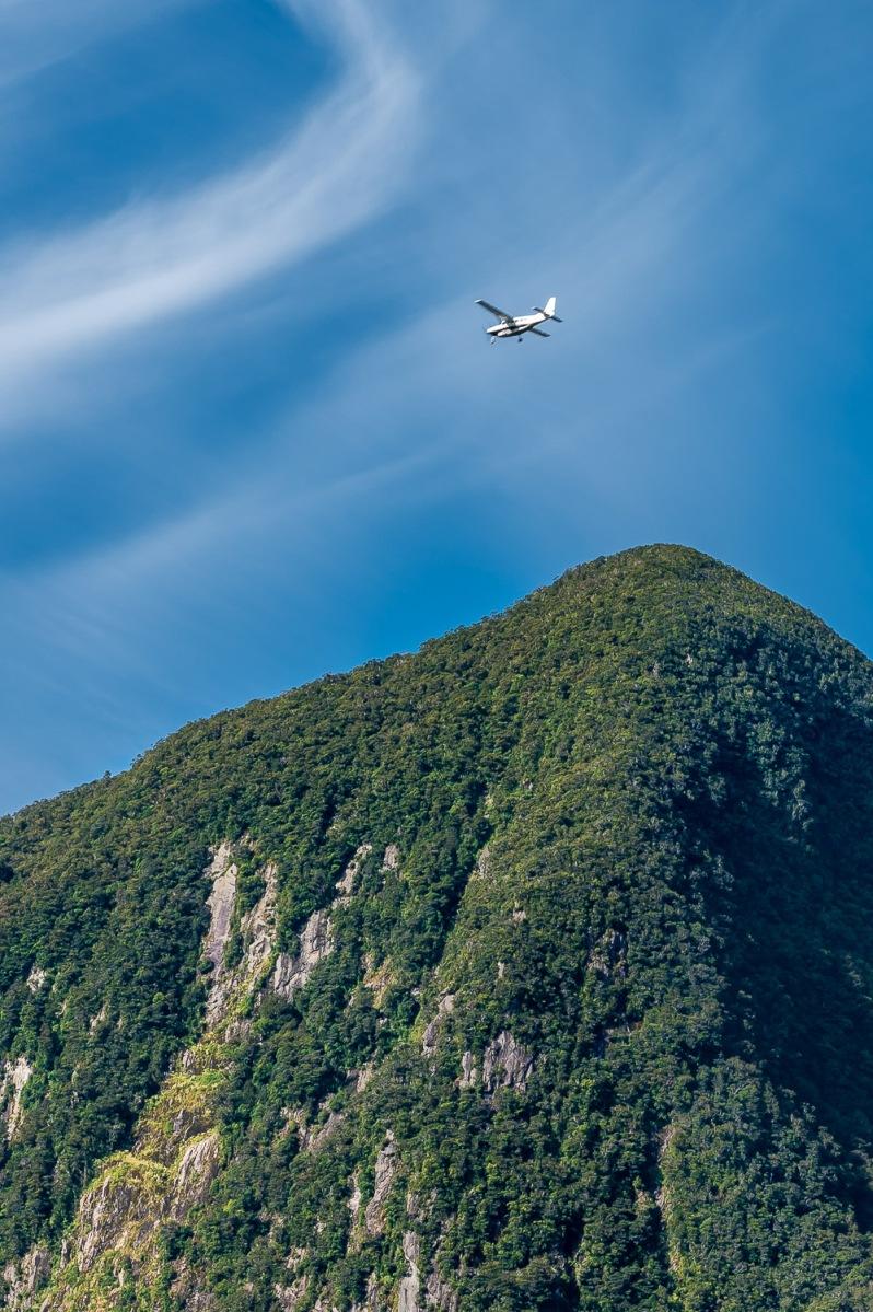 Final approach, Milford Sound, New Zealand.