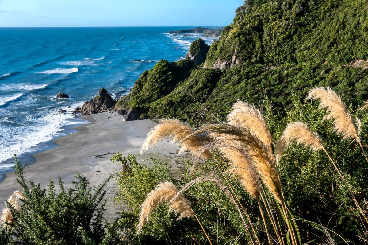 A hidden beach, West Coast, New Zealand.