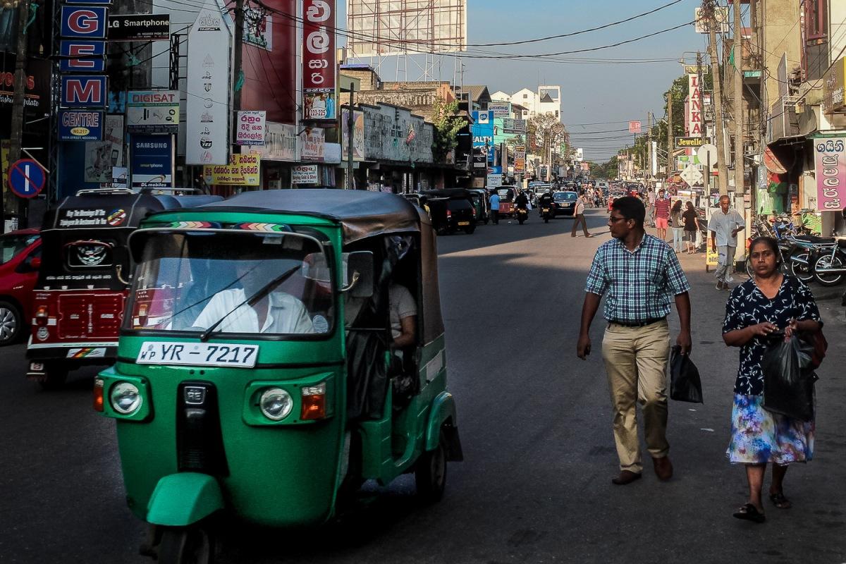 Tuk-tuk taxi in Negombo, Sri Lanka.