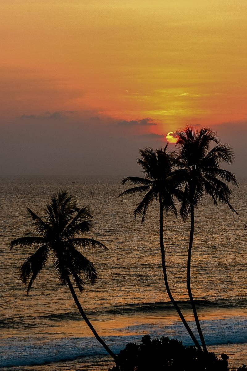 Sunrise over the Laccadive Sea, Weligama, Sri Lanka.