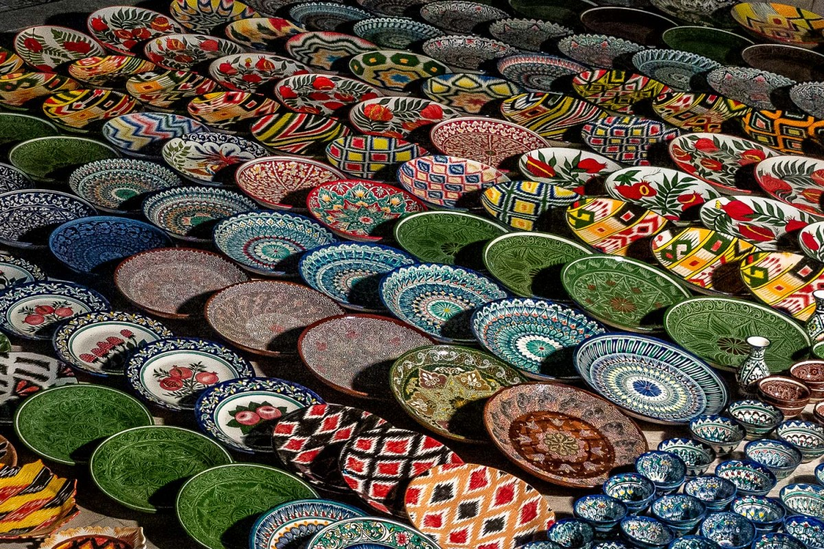 Night market, Bukhara, Uzbekistan.