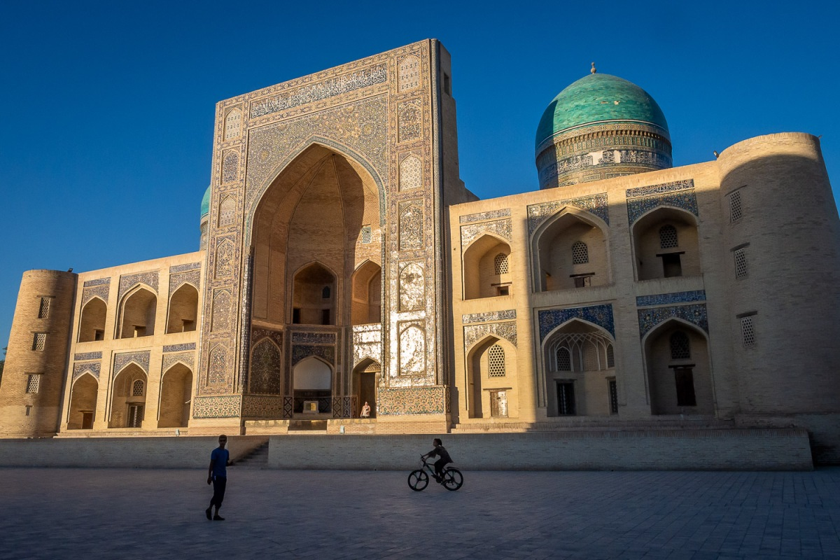 Mir-i-Arab Madrasa, Bukhara, Uzbekistan.