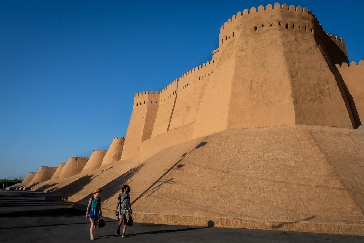 Western wall, Itchan Kala, Khiva, Uzbekistan.