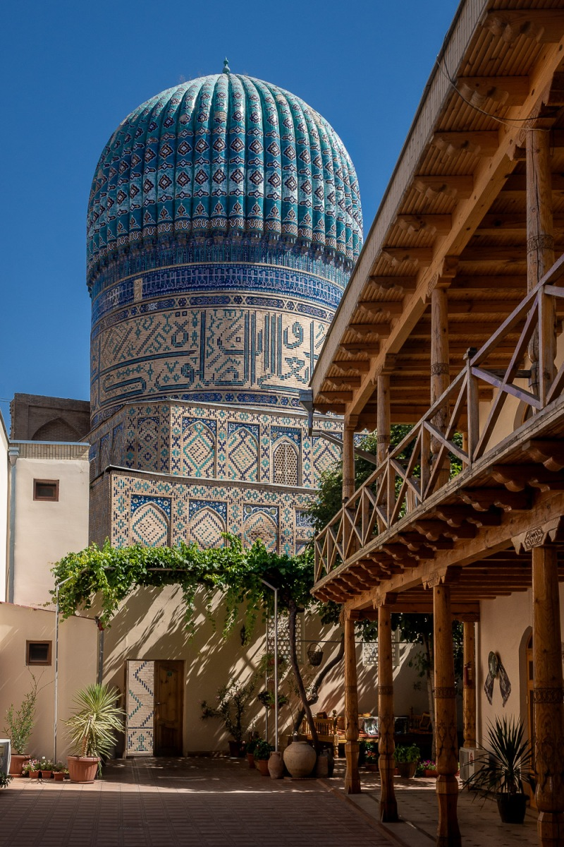 Bibikhanum Hotel, Samarkand, Uzbekistan.