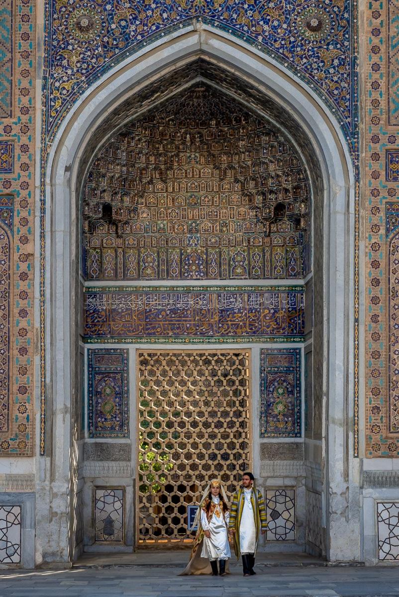 Registan Square, Samarkand, Uzbekistan.