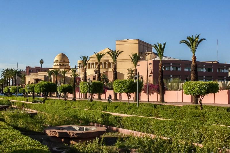 Mohammed VI aveneu, Marrakech, Morocco.